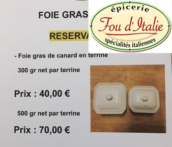 Fou d'Italie - Notre foie gras